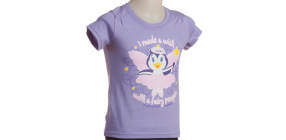 Kids Fairy Penguin t shirt Lilac3