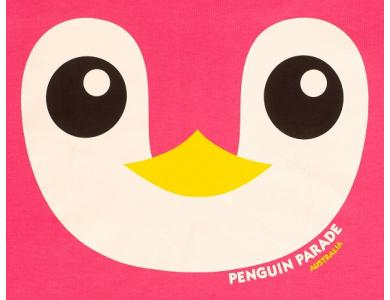 Penguin Face Print Pink2